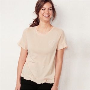 LC Weekend Ruffle-Trim Tee